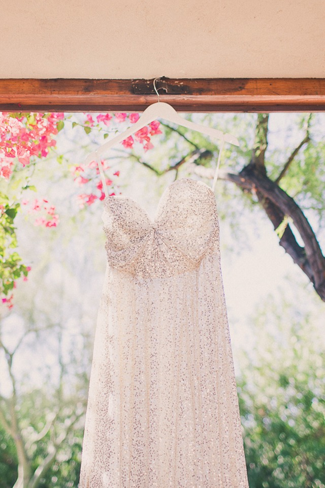 Sparkly wedding dress from Sarah Seven