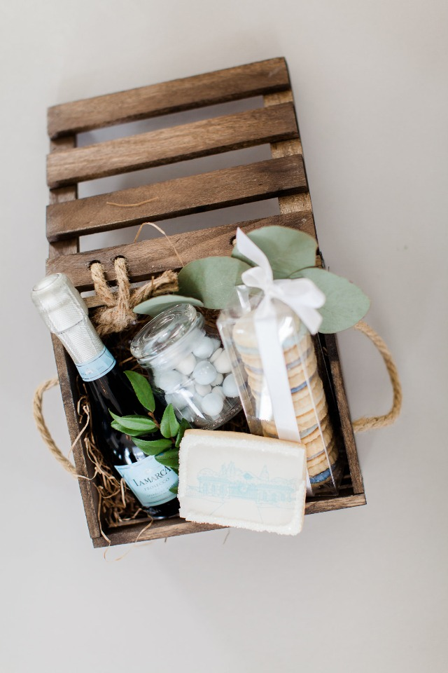 Wood crate gift box
