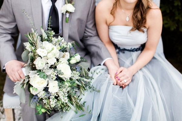 Lush Blue and Grey Winter Wedding Ideas at The Estate at Sunset Farm