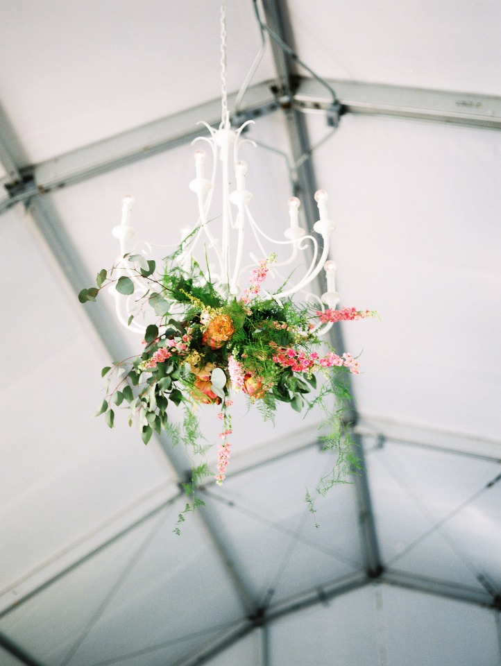 Floral chandelier decor