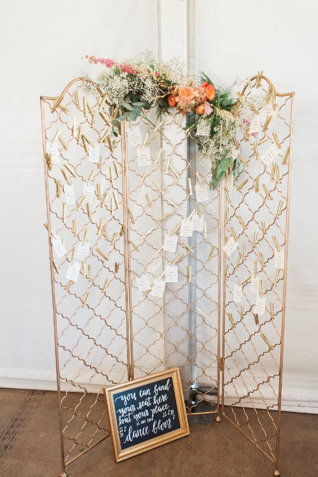 Gold escort card holder