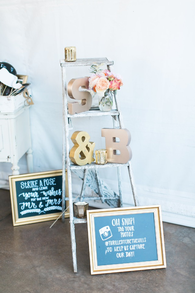 Ladder decor idea