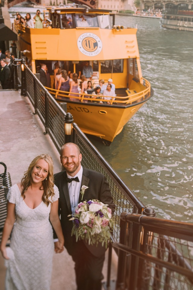 Take a water taxi to your reception
