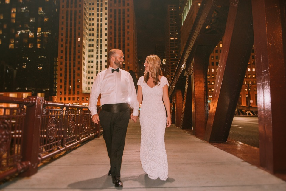 Fun and romantic Chicago wedding