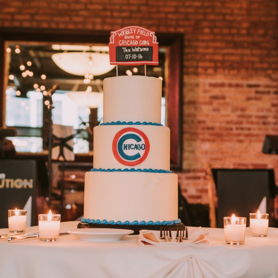 Wrigley field wedding cake