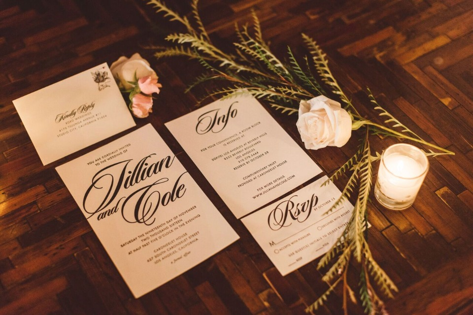 modern and classic wedding invitations