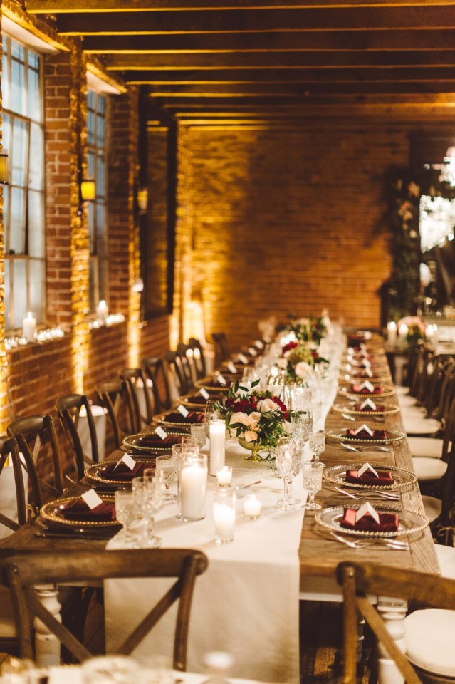 family style formal dinner wedding reception