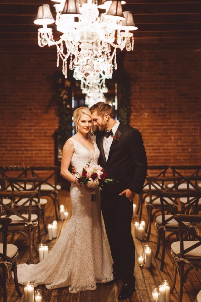 just you and me, romantic bride and groom portrait idea