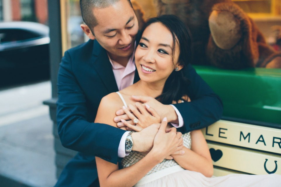 stylish West Village engagement shoot