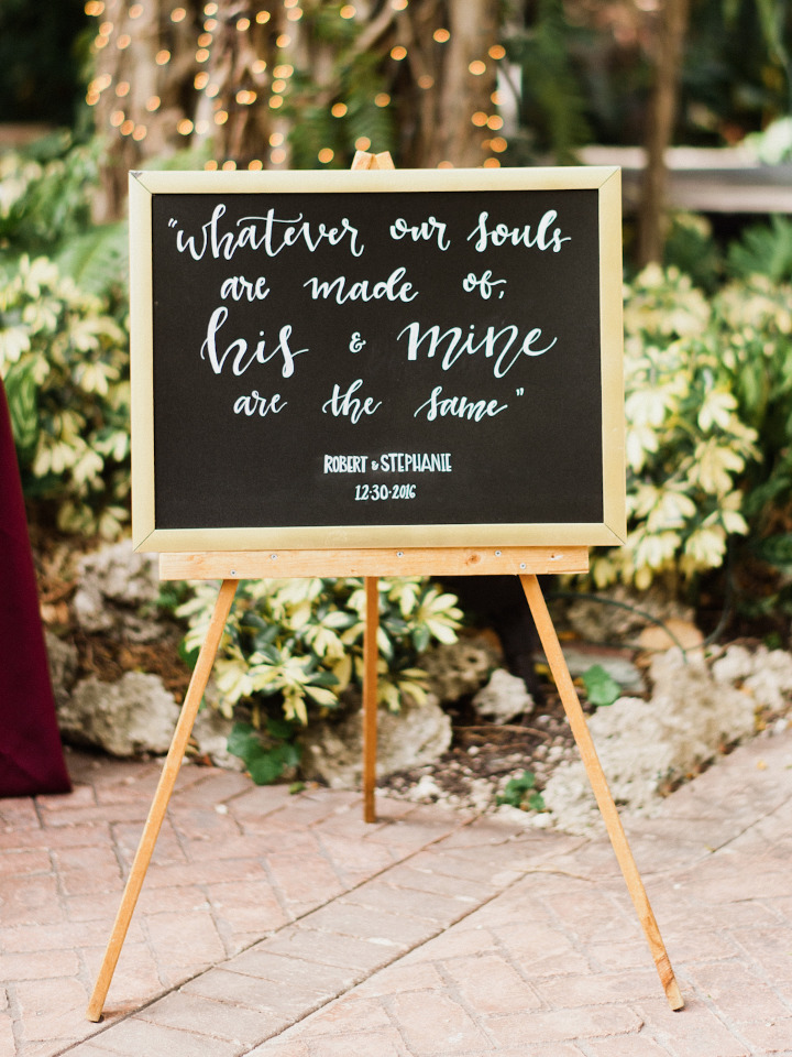 chalkboard wedding quote sign