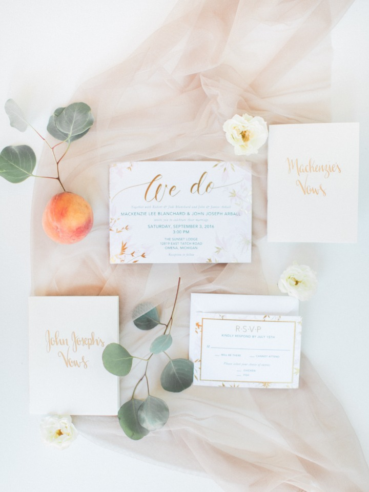 """We do"" invitation suite"