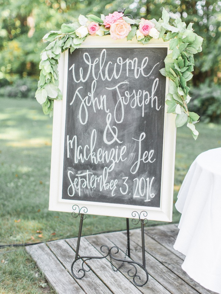 Cute chalkboard wedding sign