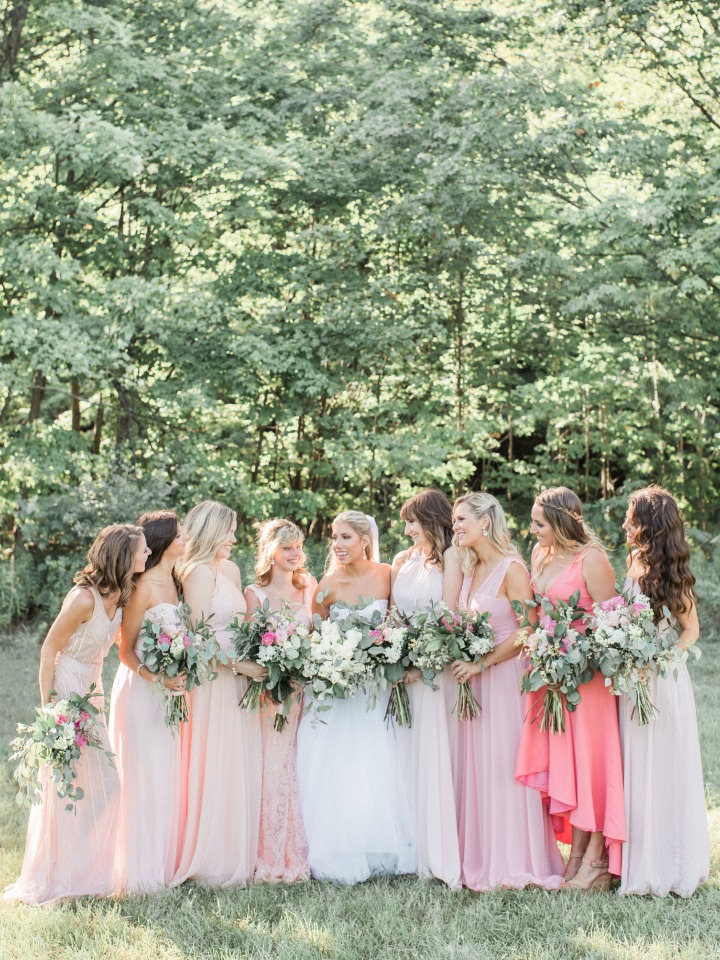 Shades of pink dresses