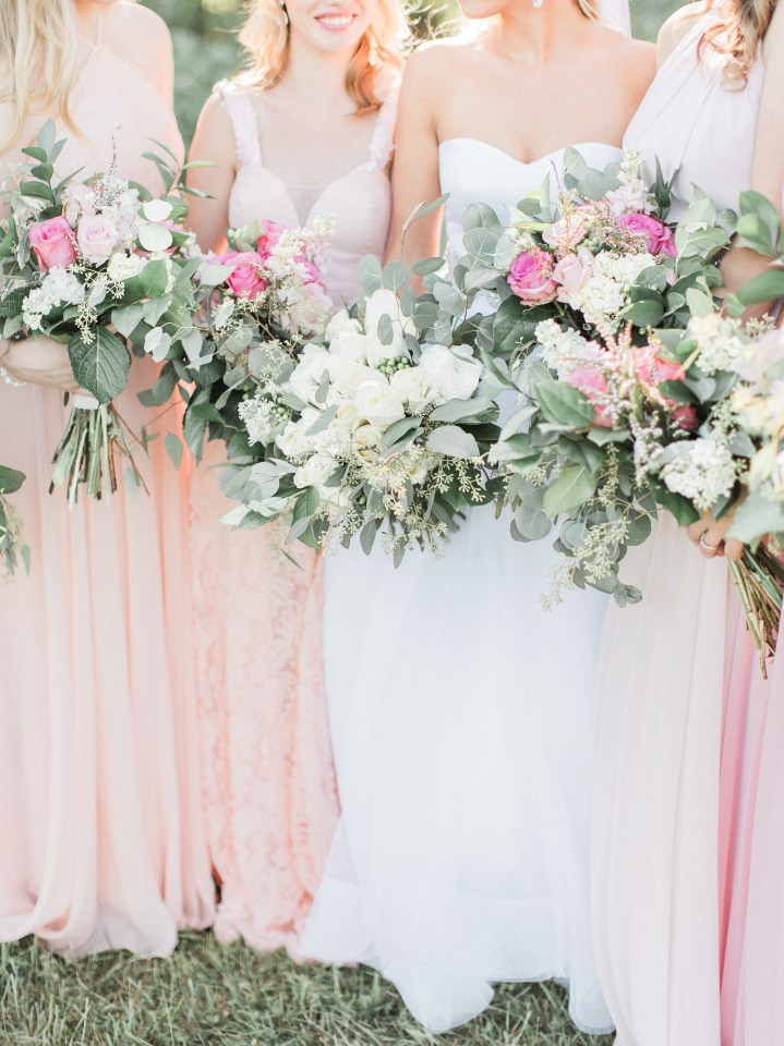 Overflowing bouquets