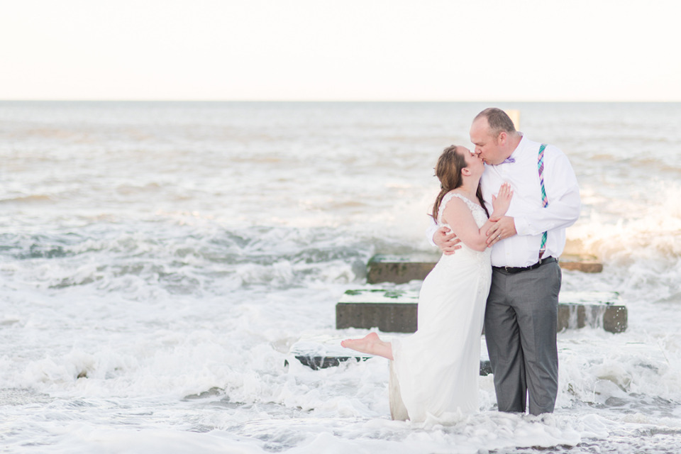 kissing in the crashing waves