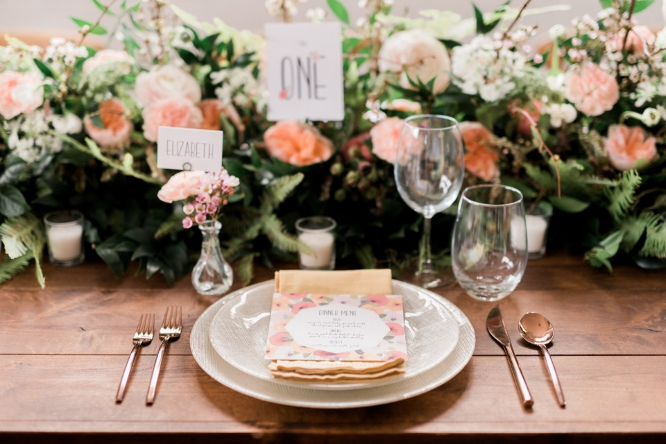 Colorful and natural place setting