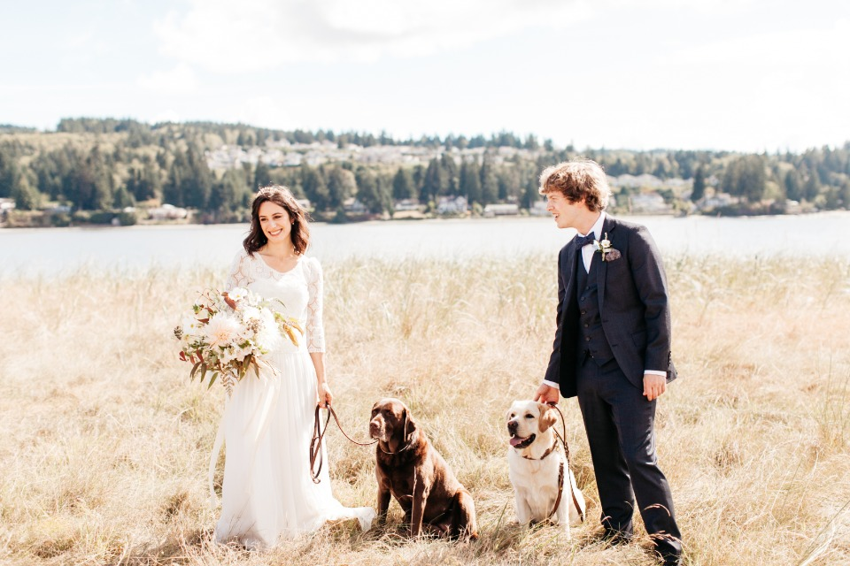 Always include you furry friends on your wedding day