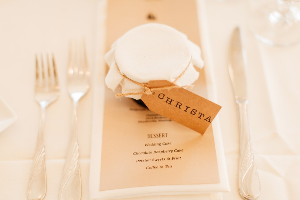 Your wedding favor can double as your place card