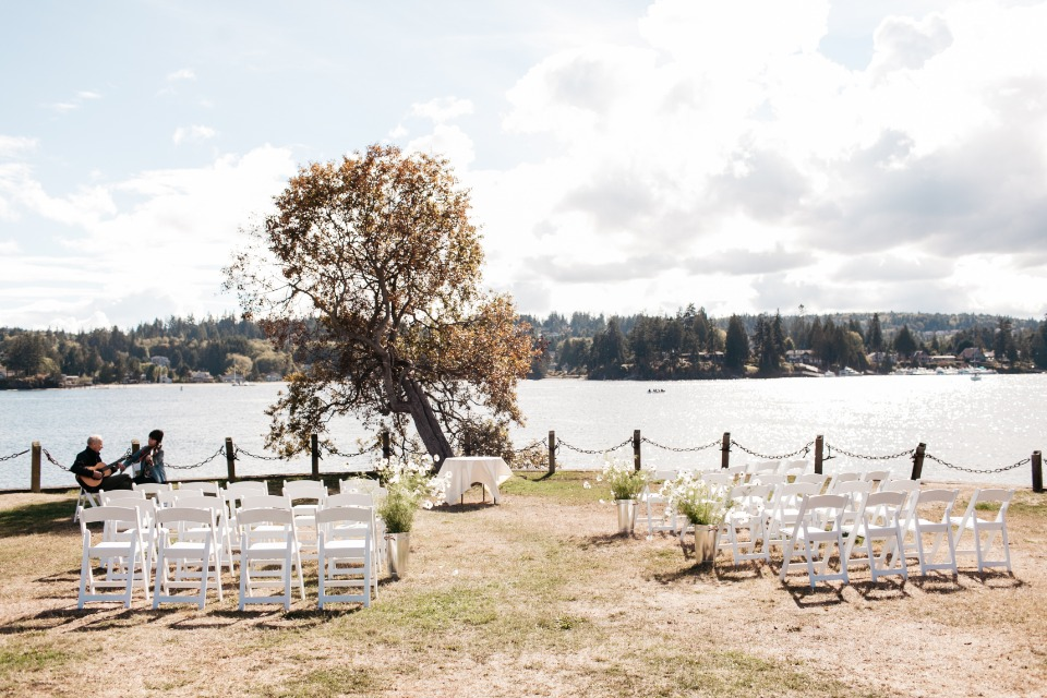 Pretty ocean front ceremony