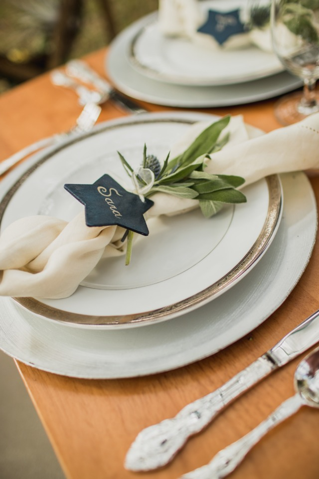star shaped place card