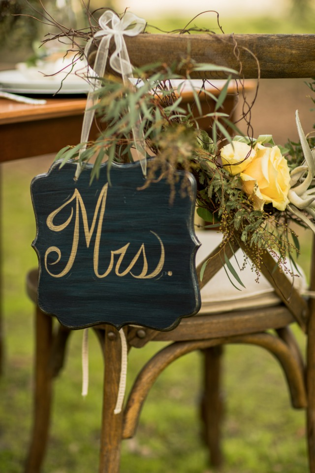 mrs wedding seat sign