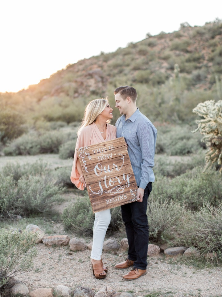 Cute sign for your engagement shoot