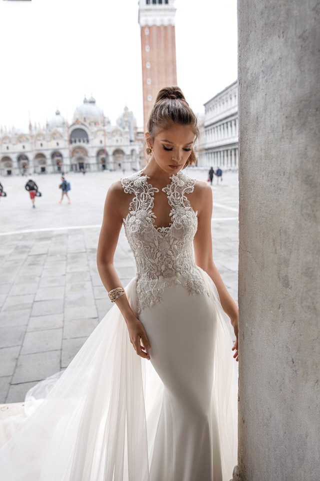 Italian style high end wedding dress julie vino