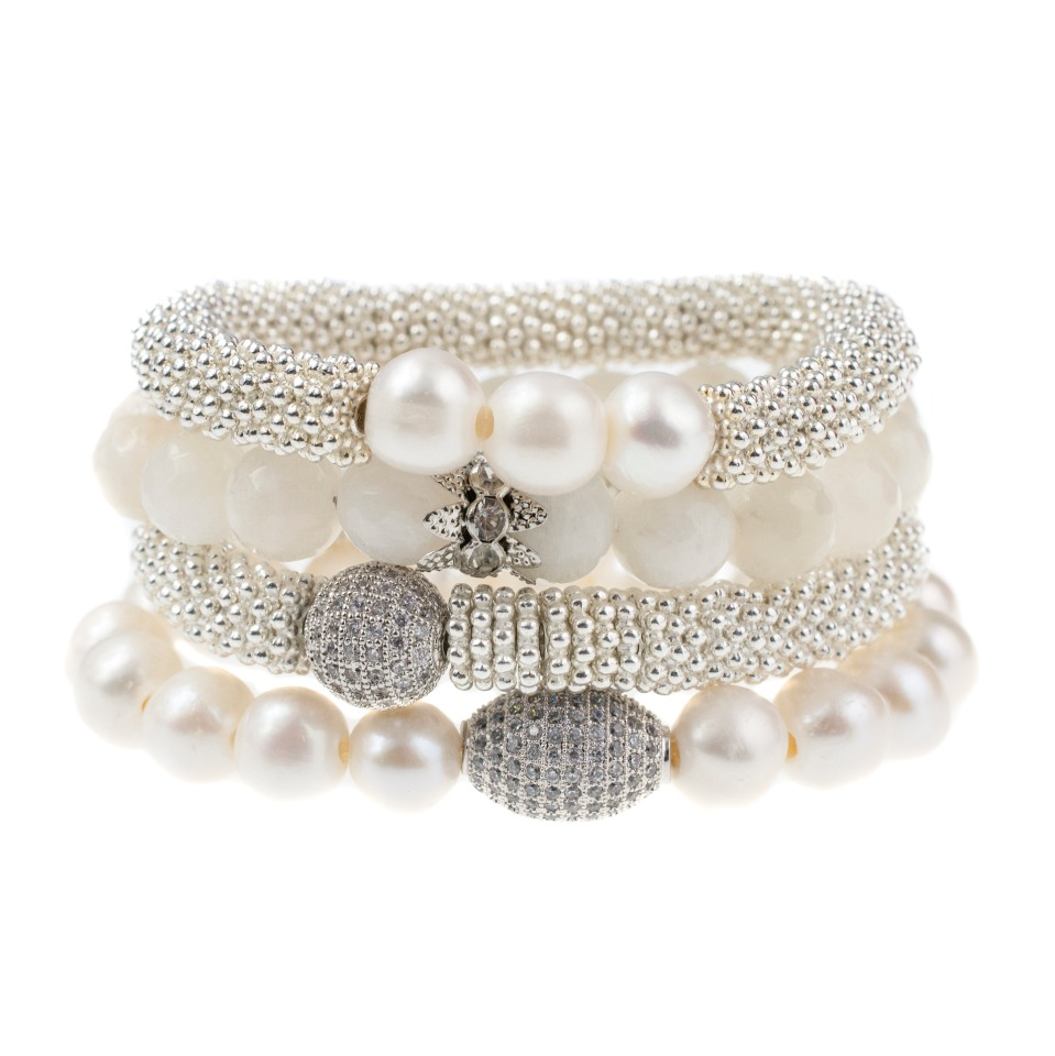 Ivory Bridal Stack from Sisco + Berluti