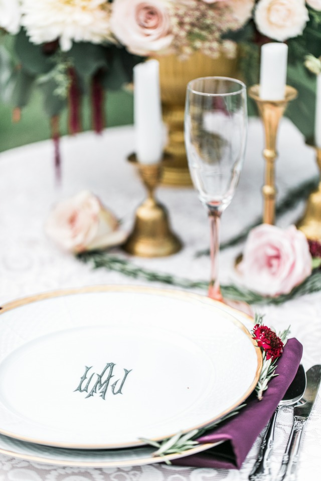 Monogramed dishes
