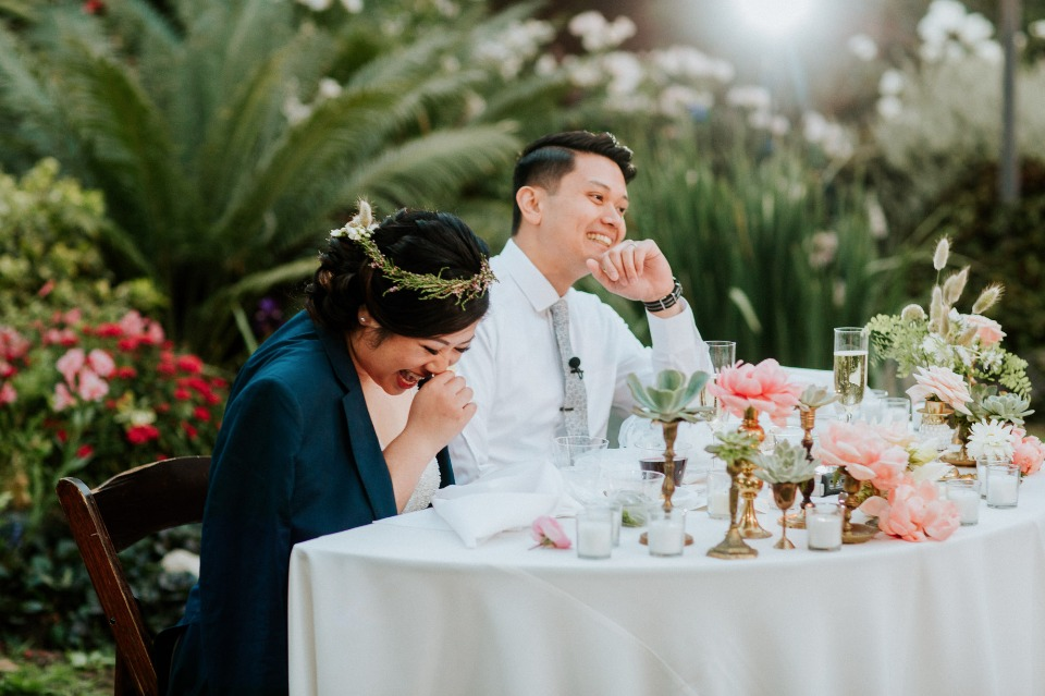 Fun and colorful outdoor wedding