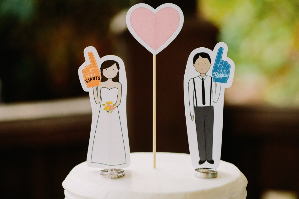 Baseball fan cake topper