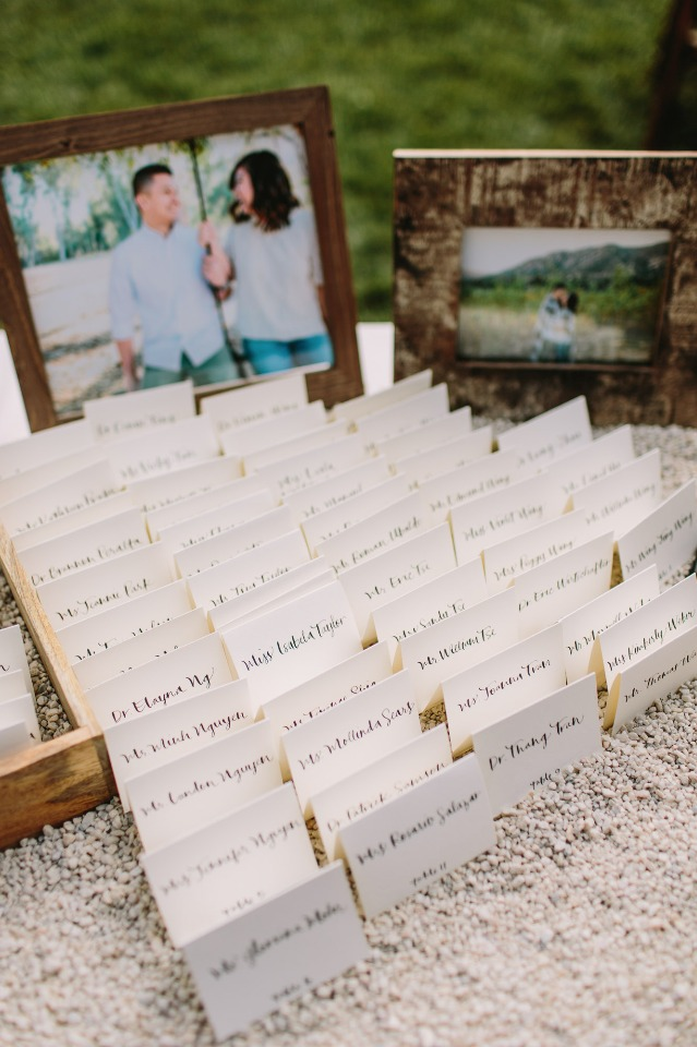 Cute place card display
