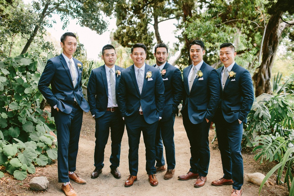 Blue suits and brown shoes