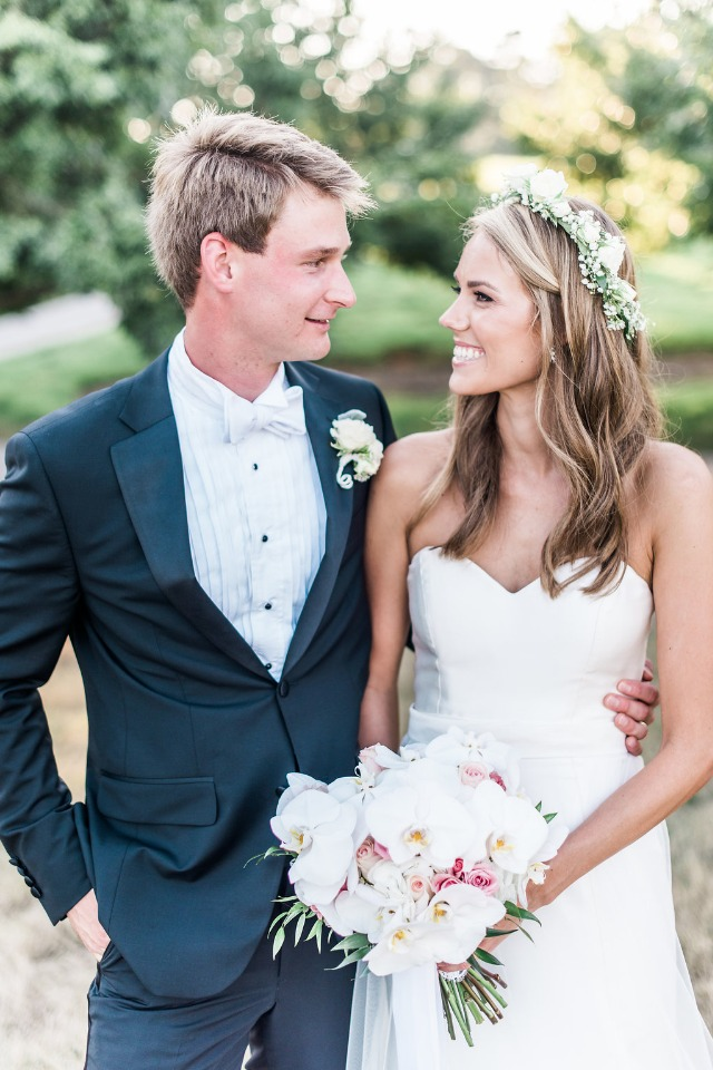 formal bride and groom style