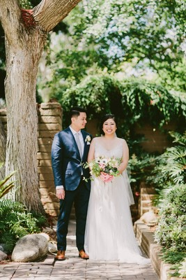 Festive Natural Pink Lavender and Grey Garden Wedding