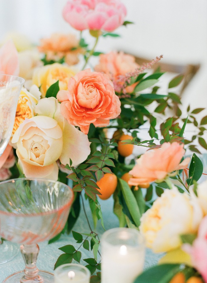 bright and cheery wedding flowers