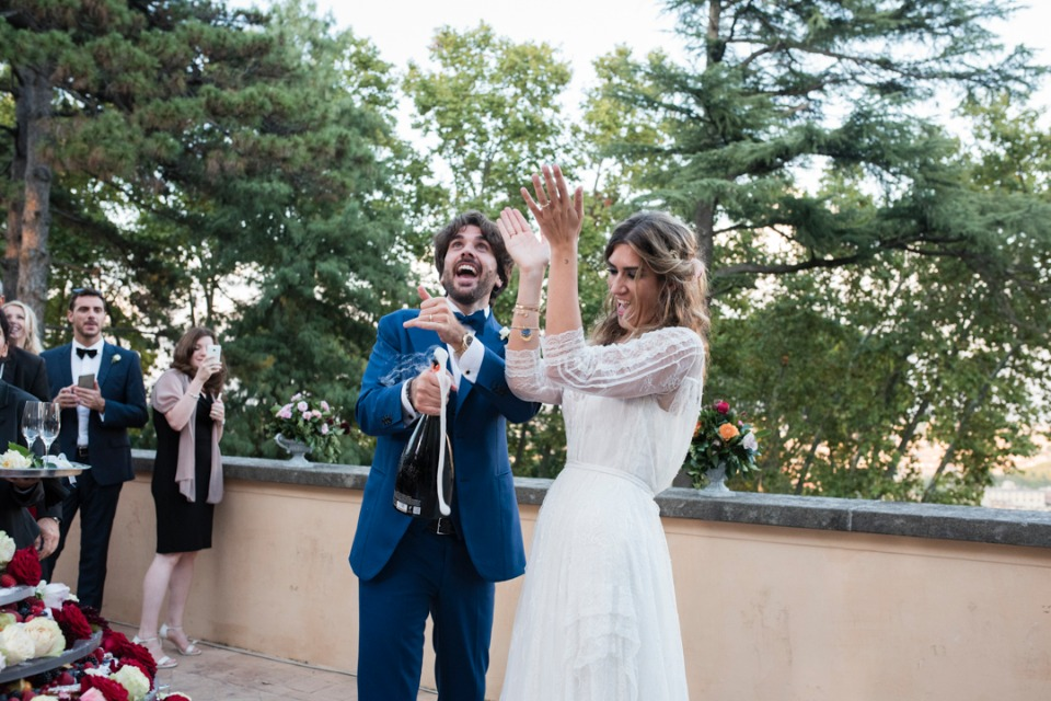 Pop the champagne and celebrate this beautiful Rome wedding