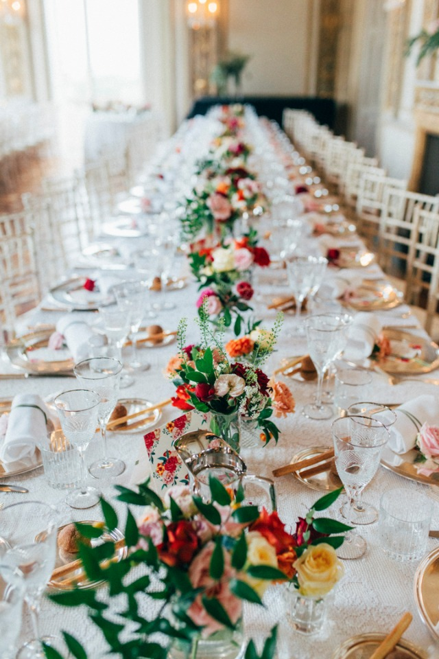 Stunning table scape at this boho wedding