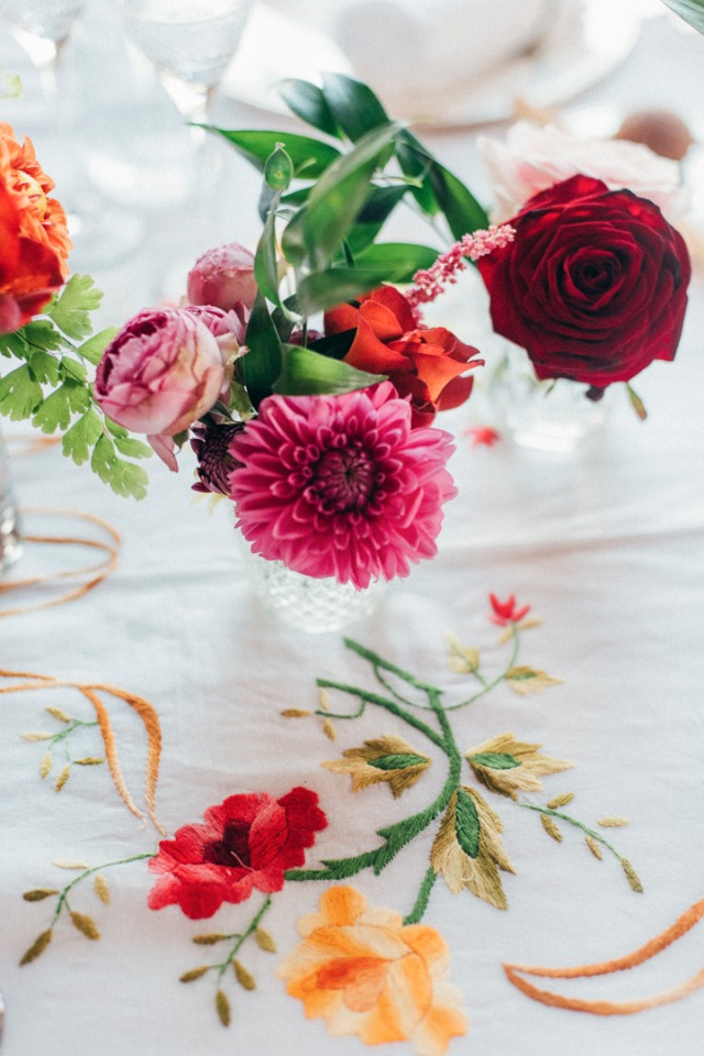 Spring flowers and grandmothers table cloths