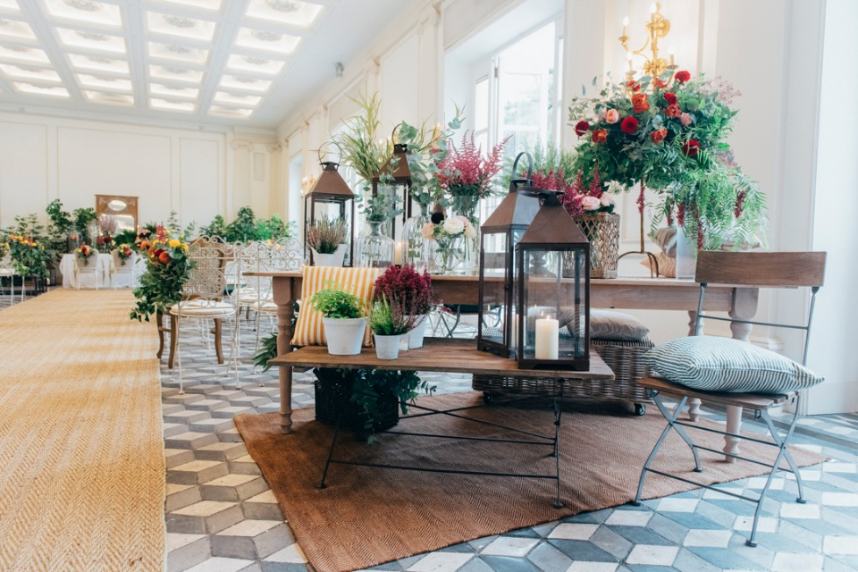 Spring decor with flowers everywhere