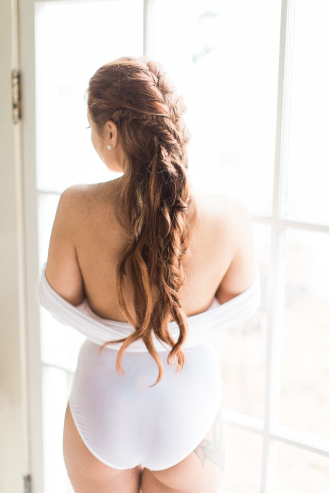 free flowing and braided hair idea