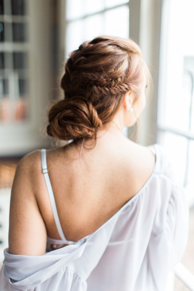 unique braided updo