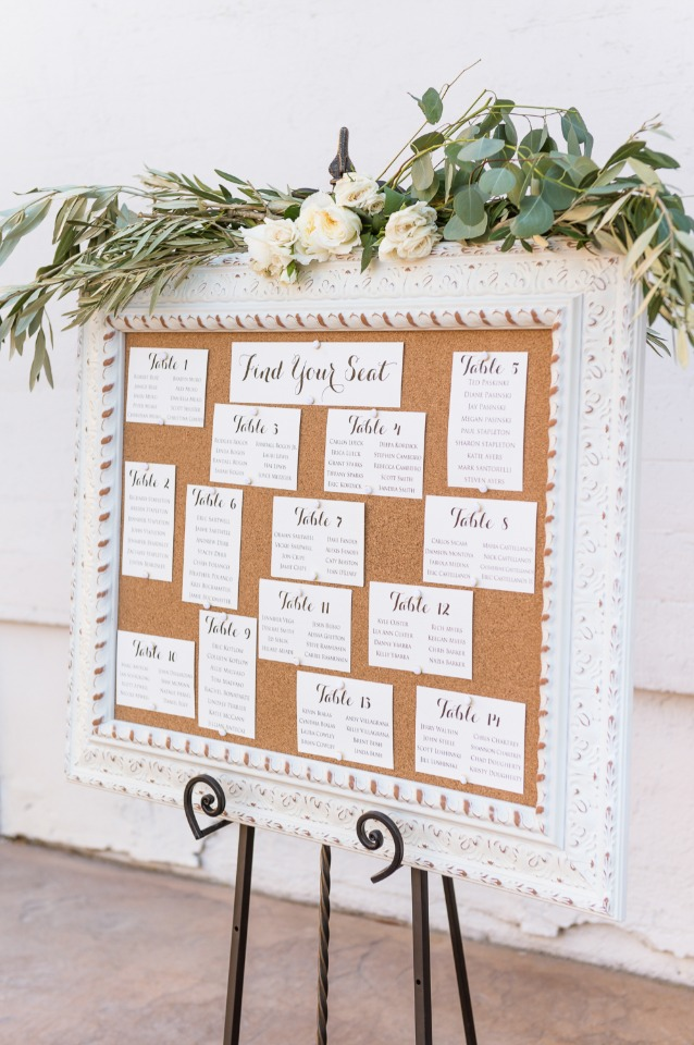 Cute vintage seating chart