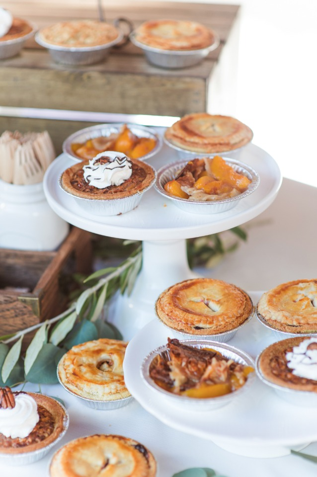 Mini pie bar for guests