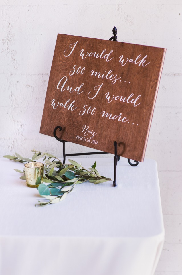 "Wedding quote from ""I'm gonna be"" by The Proclaimers"