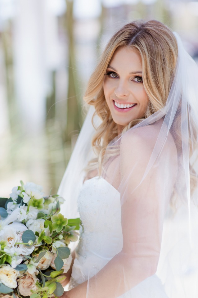 Soft and elegant bridal look