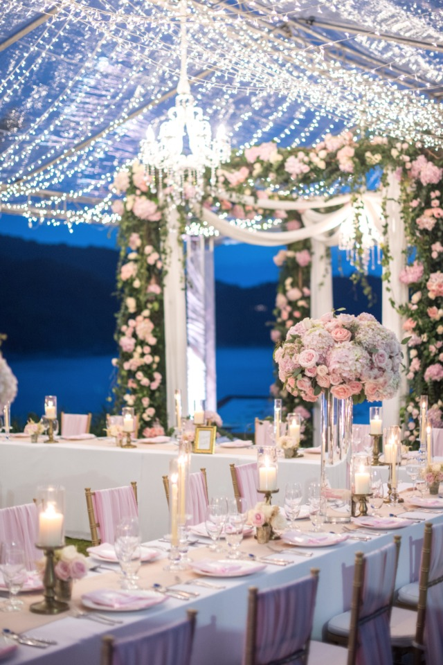 Dreamy reception lighting ideas
