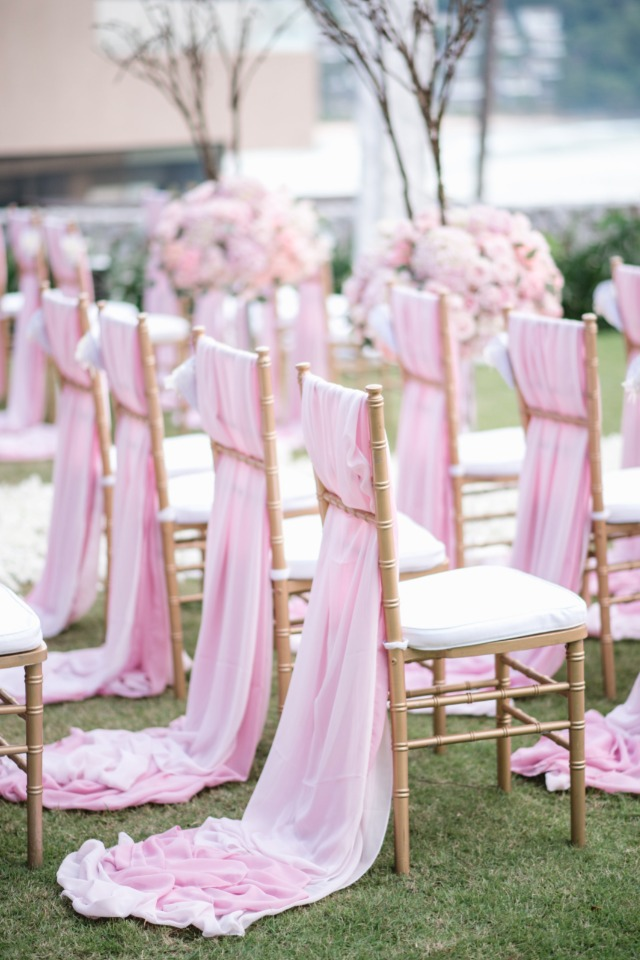 Pink chair sash