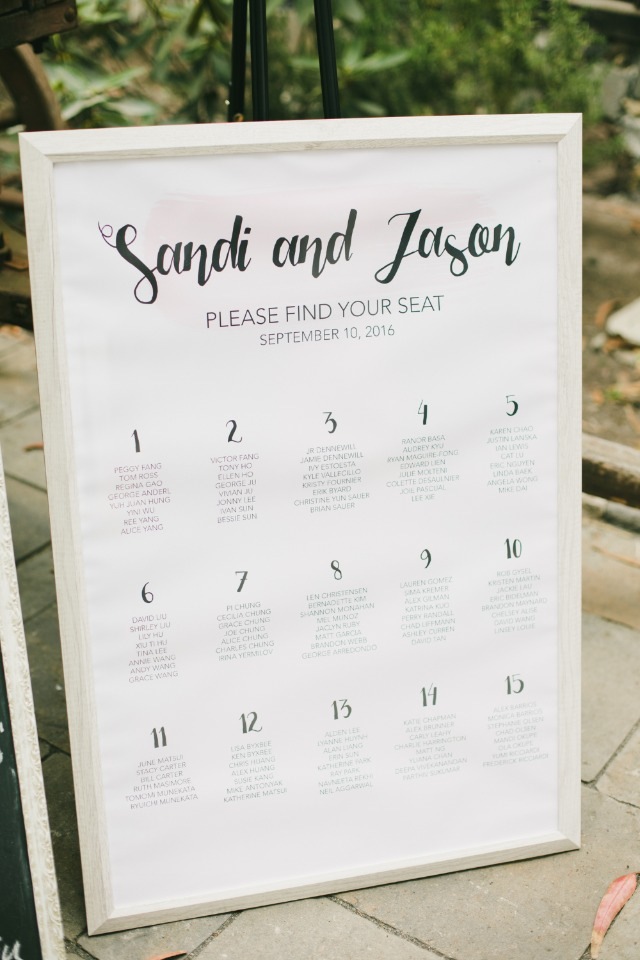 seating assignment display idea