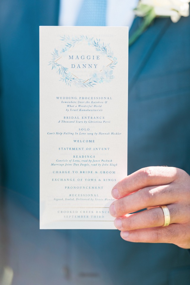 Why should you have a wedding program? We'll tell you.